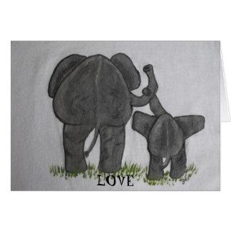 Cartes L'amour le plus vrai de maman et de bébé