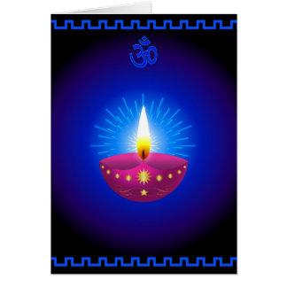 Cartes Lampe à lueur décorative de Diwali