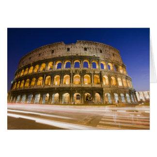 Cartes l'ampitheatre de Colosseum illuminé la nuit 2