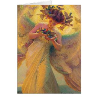 Cartes L'ange des oiseaux Franz Dvorak 1910