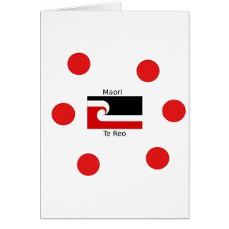 Cartes Langue de Te Reo et conception maorie de drapeau