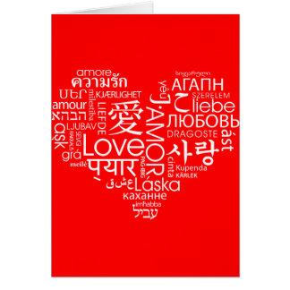 Cartes Langues de coeur d'amour