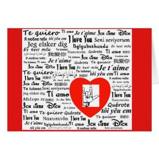 Cartes Langues de l'amour