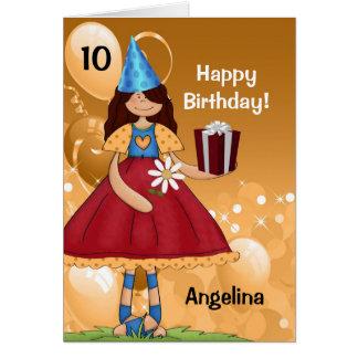 Cartes L'anniversaire de l'enfant personnalisé avec l'âge