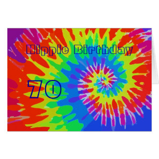 Cartes L'anniversaire hippie soixante-dixième super