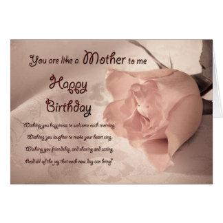 Cartes L'anniversaire pour comme une mère à moi a vieilli