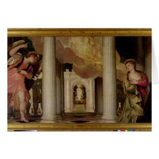 Cartes L'annonce, c.1551-53 (huile sur la toile)