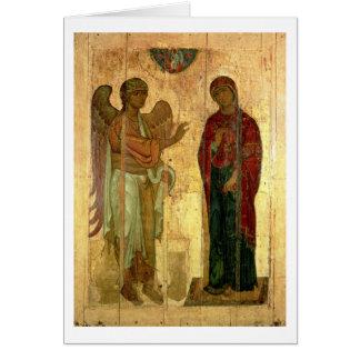 Cartes L'annonce d'Ustiug, c.1130-40 (tempera sur la