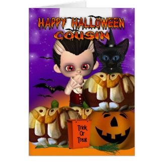 Cartes Lanter du cric o de citrouille de chat de vampire