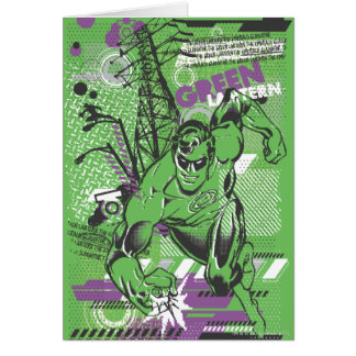 Cartes Lanterne verte - affiche absurde de collage