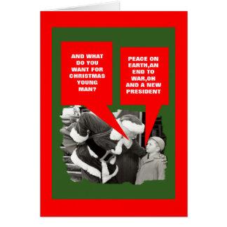 Cartes L'anti Président Obama bonnes fêtes