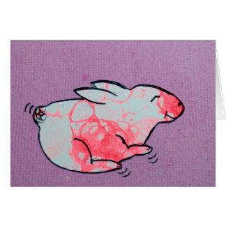 Cartes Lapin d'art de bulle sur le papier réutilisé fait