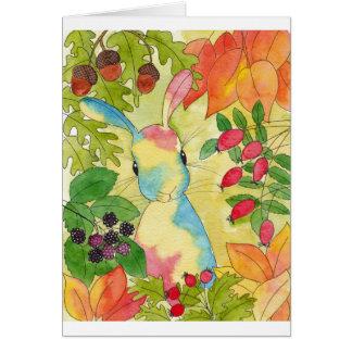 Cartes Lapin d'automne par art de menthe poivrée