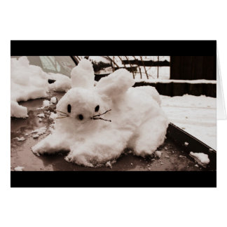 Cartes Lapin de houblon de neige de vacances