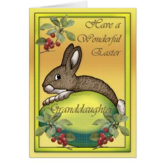 Cartes Lapin de Pâques heureux avec l'oeuf, pour la