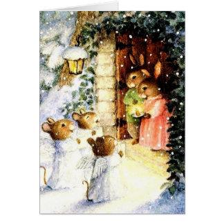 Cartes Lapins vintages de Noël