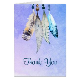 Cartes L'aquarelle perle 'le Merci de plumes de n