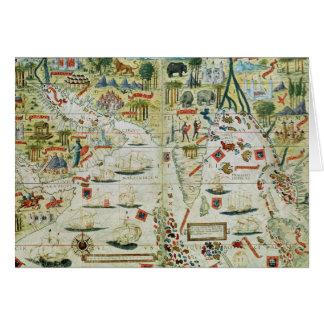 """Cartes L'Arabie et l'Inde, du """"atlas de Miller"""", c.1519"""