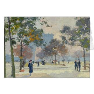 Cartes L'Arc de Triomphe en automne, Paris
