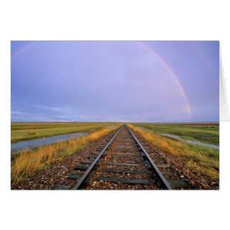 Cartes L'arc-en-ciel au-dessus des voies ferrées