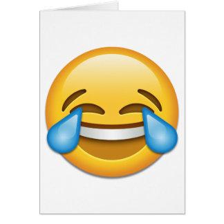 Cartes Larmes d'emoji de joie drôles