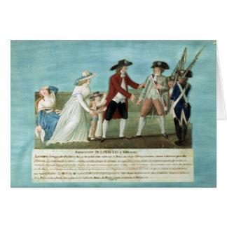 Cartes L'arrestation de Louis XVI et sa famille