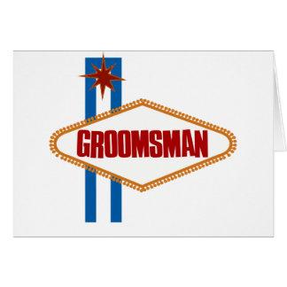 Cartes Las Vegas Groomsman