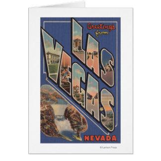Cartes Las Vegas, Nevada - grandes scènes de lettre