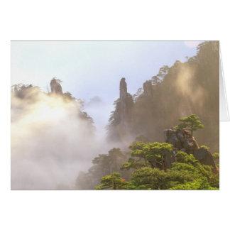 Cartes L'Asie, Chine, Huanshan. La montagne jaune dedans