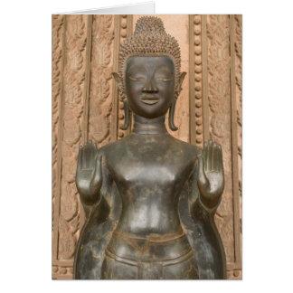 Cartes L'Asie, les Laotiens, Vientiane, Bouddha en bronze