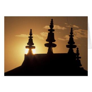 Cartes L'Asie, Népal, Katmandou. Bouddhanath Stupa.