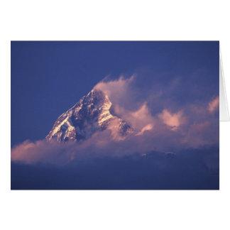 Cartes L'Asie, Népal. Machhapuchhare