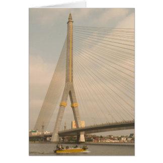Cartes L'Asie, Thaïlande, Bangkok, pont au-dessus de Chao