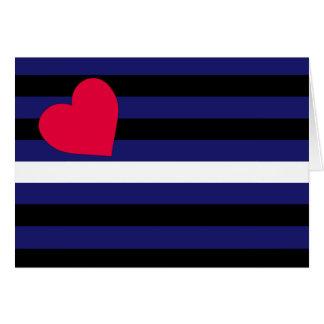 Cartes Latex en cuir et drapeau de fierté de BDSM