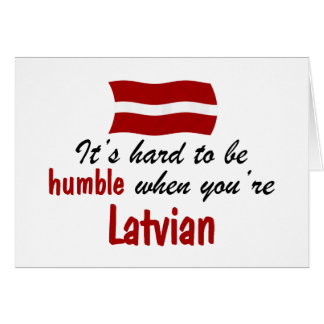 Cartes Latvian humble