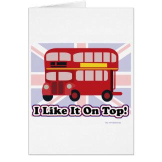 Cartes L'autobus britannique