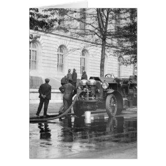 Cartes Lavage de puissance de camion de pompiers, 1923