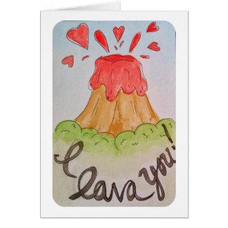 Cartes Lave I vous je t'aime valentine d'aquarelle