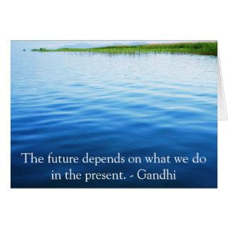 Cartes L'avenir dépend de ce que nous faisons dans le