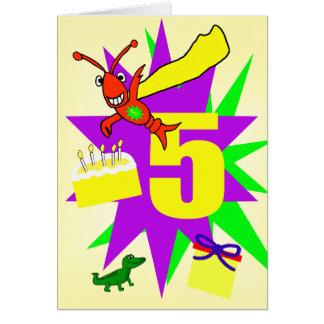 Cartes Le 5ème anniversaire du garçon lunatique