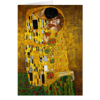 Cartes Le baiser par Gustav Klimt