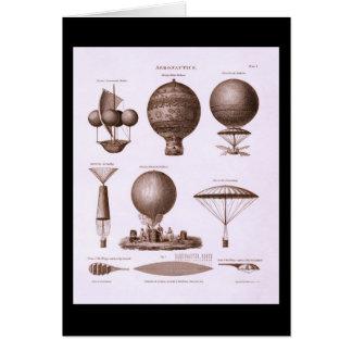 Cartes Le ballon à air chaud historique conçoit l'image