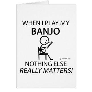Cartes Le banjo rien d'autre importe