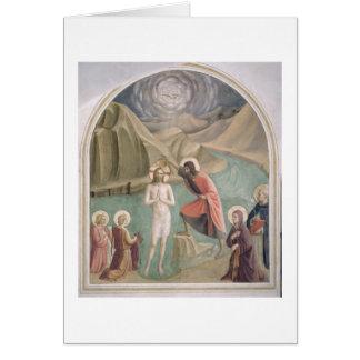 Cartes Le baptême du Christ, c.1438-45 (fresque)