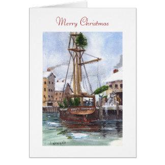 Cartes Le bateau d'arbre de Noël encouragent Simmons