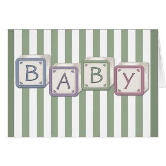 Cartes Le bébé bloque le vert