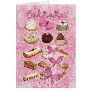 Cartes Le bonbon traite la pâtisserie française de