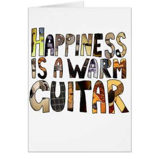 Cartes Le bonheur est une guitare chaude
