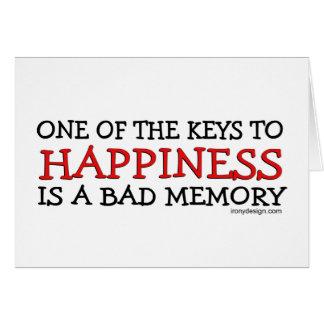 Cartes Le bonheur est une mauvaise mémoire