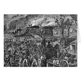 Cartes Le Burning de Washington, 1814